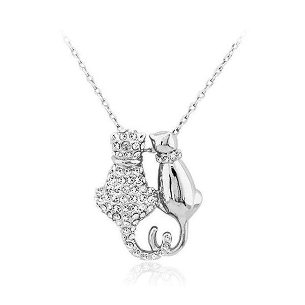 Cute Cat Couple Pendant