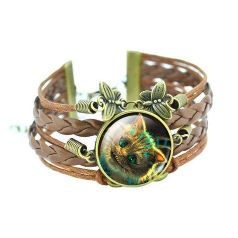 Bronze Butterfly Cat Bracelet