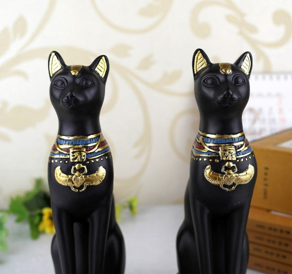 Vintage Egyptian Cat Book Ends