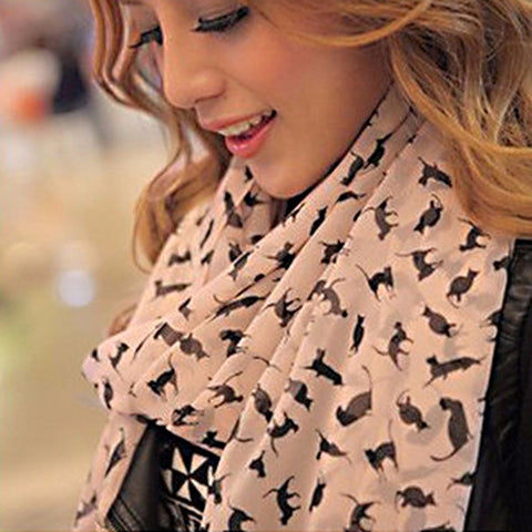Graffiti Kitty Print Scarf