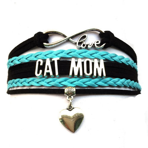 Infinity Love Cat Mom Bracelet