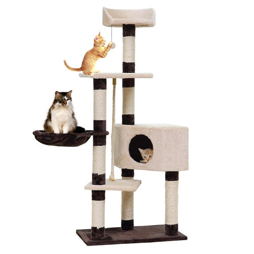 New Arrival Cat Climbing Furniture Pet House Scratching Post Kitten Playing With Ball Cat Training Frame Product With Pet Bed