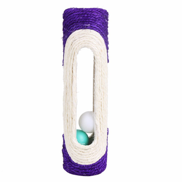 Rolling Sisal Scratching Post  With 3 Balls