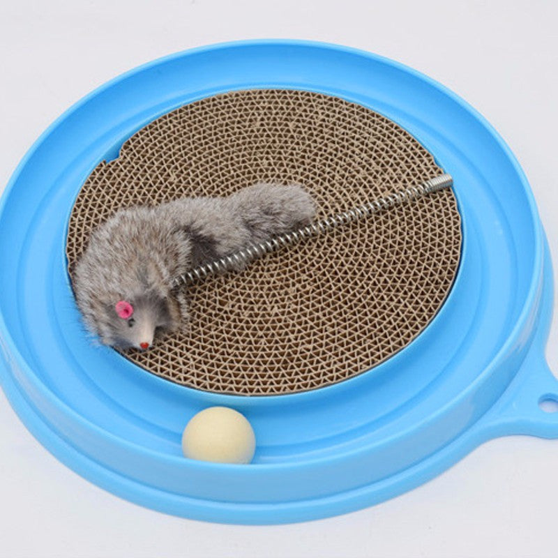 Turbo Cat Scratcher Interactive Toy With Mouse