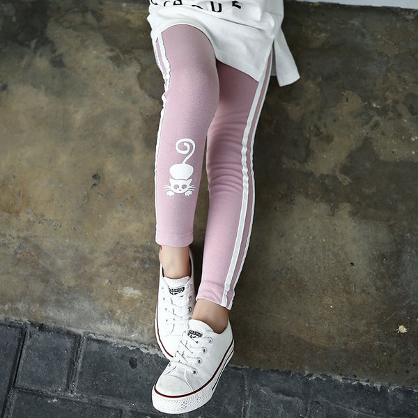 Cat Character Kids Skinny Full Length Leggings