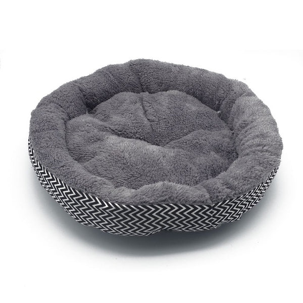 Round Soft  Striped Pet Cat Bed