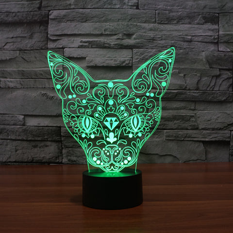 Hot New Color Changing Cat Illusion LED Lamp