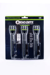 Q-BEAM® BRIGHTSMITH 3-Pack Aluminum Flashlights
