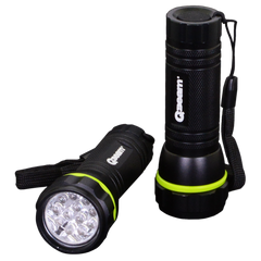QBeam 2pk - 12 LED Aluminum Flashlight w/ Lanyard - 80 Lumens