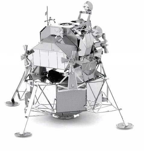 3D Metal Apollo Lunar Lander Satellite