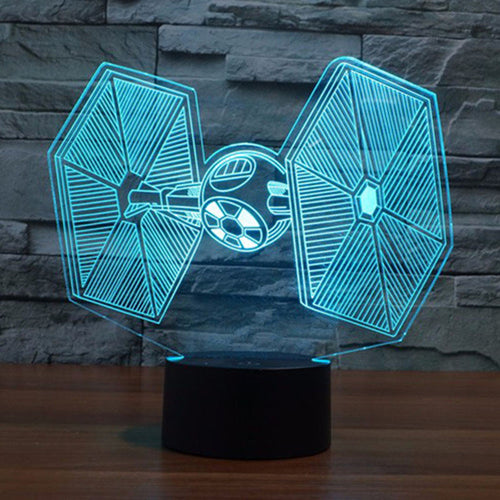 Star Wars 3D TIE Fighter USB Table Lamp