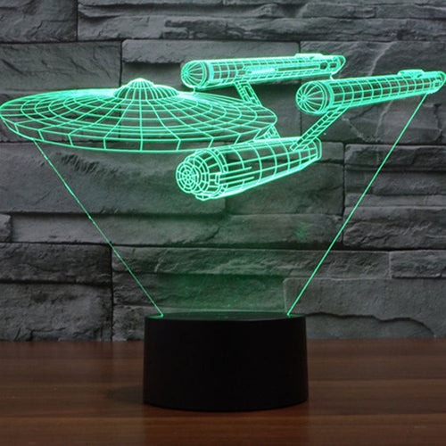 USS Enterprise 3D USB Table Lamp