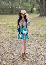Charleston | Long Sleeve Patterned Dress