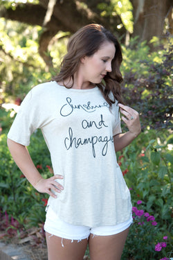Sunshine and Champagne Tee