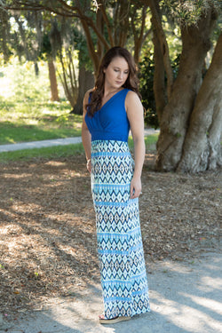 Carly Geometric Patterned Maxi