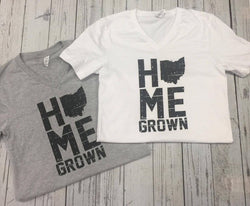 Home Grown Ohio | Graphic V-Neck Tee