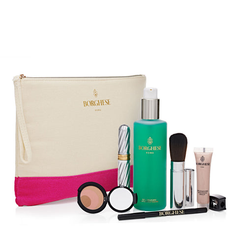 8 Piece Everyday Makeup & Clutch Set