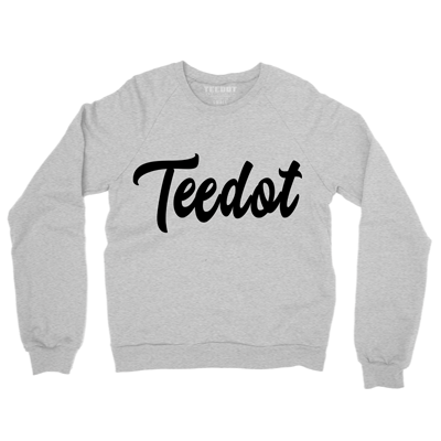 TEEDOT Script Sweater Gray - Teedot Apparel