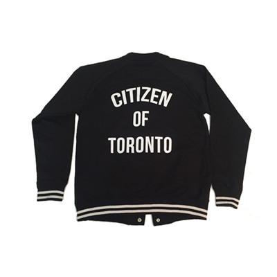 Citizen of Toronto Varsity Jacket (Black) - Teedot Apparel
