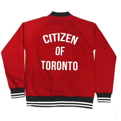 Citizen of Toronto Varsity Jacket (Red) - Teedot Apparel