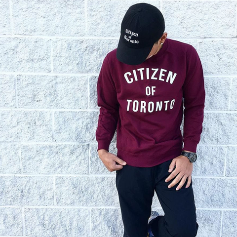 Citizen Of Toronto Sweater (Maroon) - Teedot Apparel