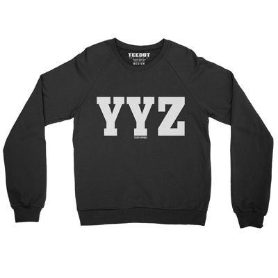 YYZ Sweater (Black) - Teedot Apparel