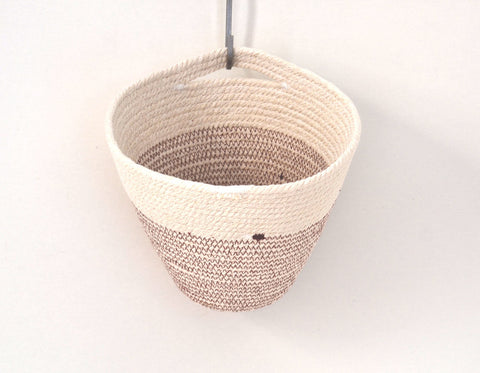 Cotton cord hanging pot