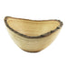 Wooden oval bowl