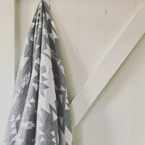 Grey & White Hammam Towel