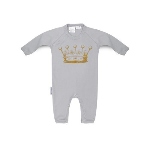 Long sleeved new baby romper-crown