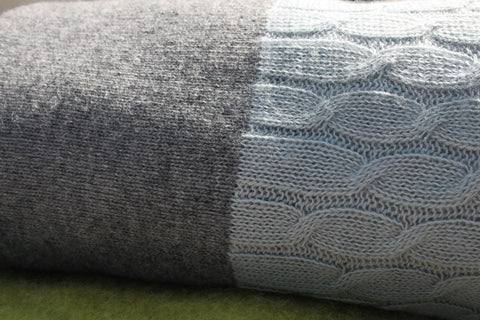 Cotswold grey cable blanket