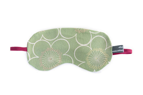 Green floral sleep mask