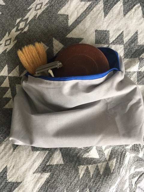 Washbag (grey cotton)