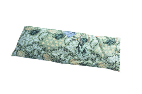 Lavender eye pillow (green print)