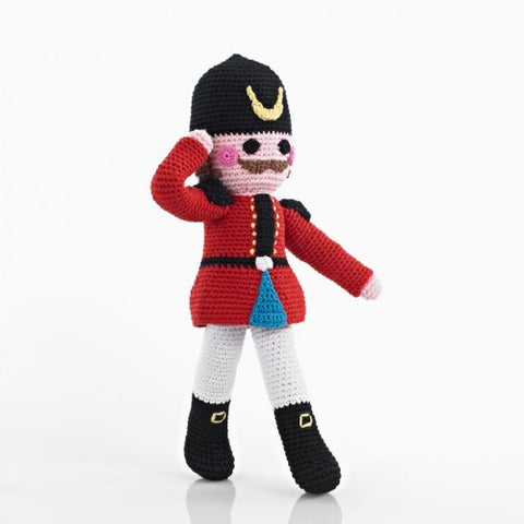 Nutcracker knitted toy