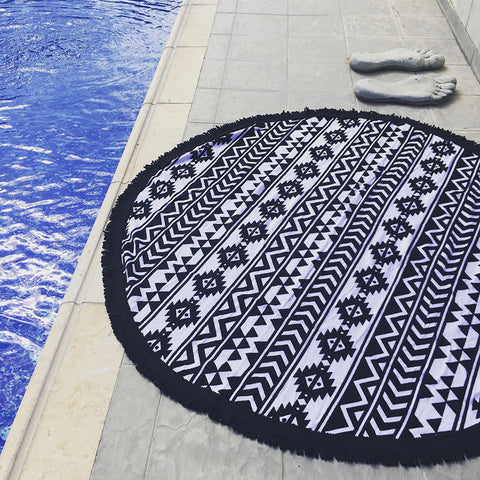 Roundie Aztec Beach Towel