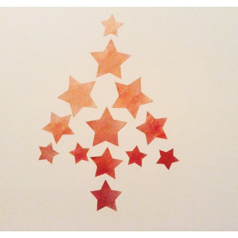 Copper star wall decals