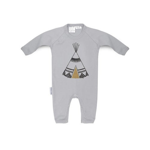 Long sleeved baby romper-tepee