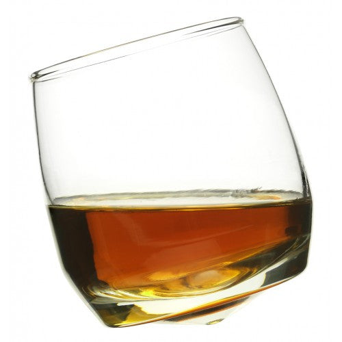 Whisky glasses with round base