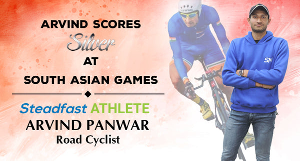 SILVER FOR OUR CYCLIST ARVIND PAWAR AT THE SOUTH ASIAN GAMES, 2019