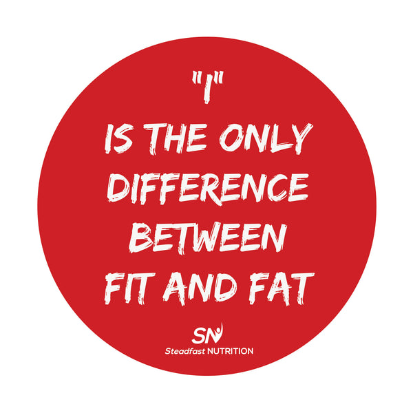 FIT vs FAT Fridge Magnet