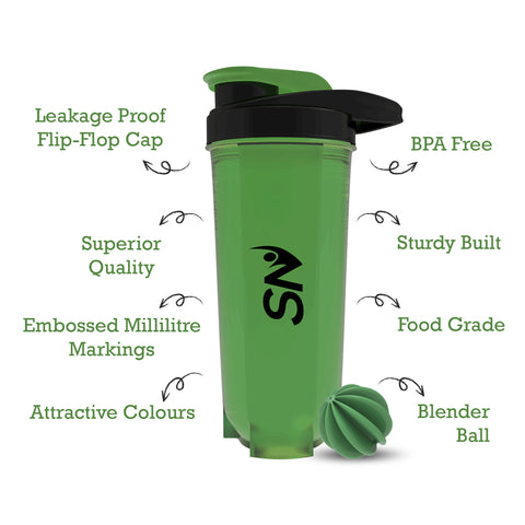 Benefits of 700 ml green shaker