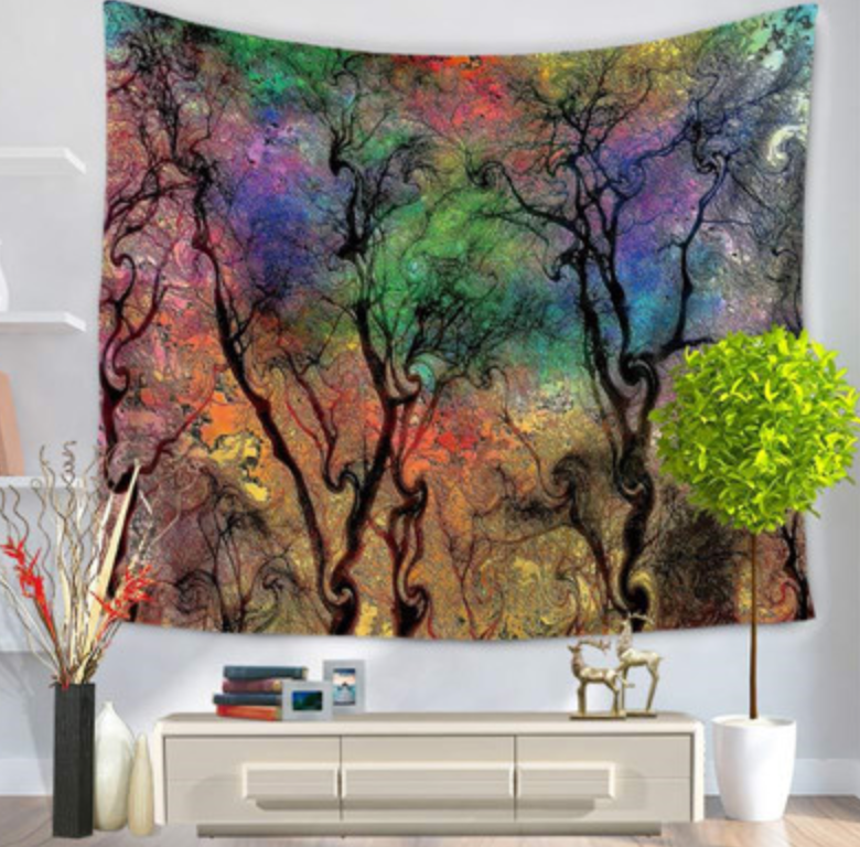Colored Sky Tapestry - Vegan Gift - Room Decor