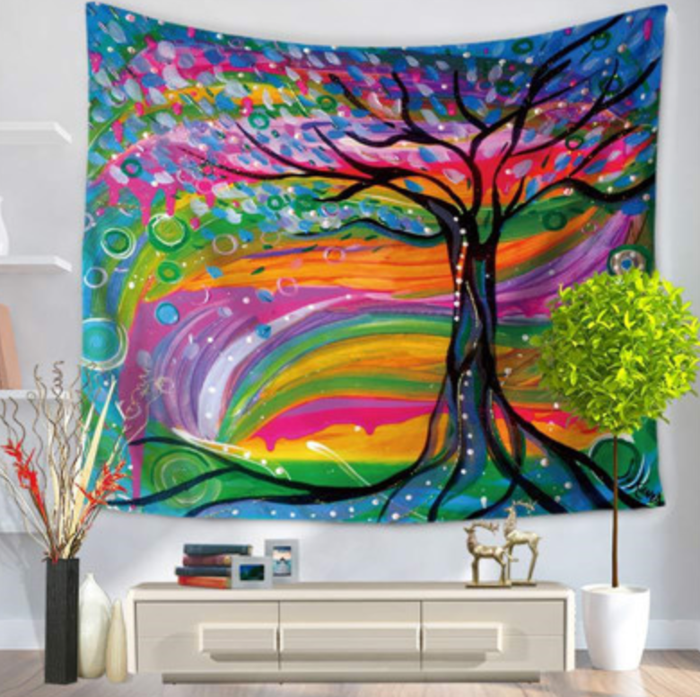 Rainbowgrove Dreams-  Tapestry - Vegan Gift - Room Decor