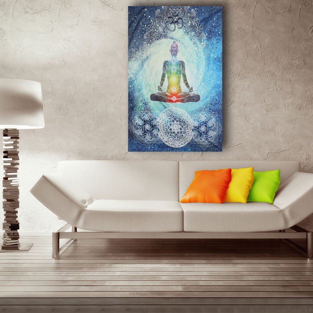 7 Chakra Meditation Tapestry - wall art - room decor