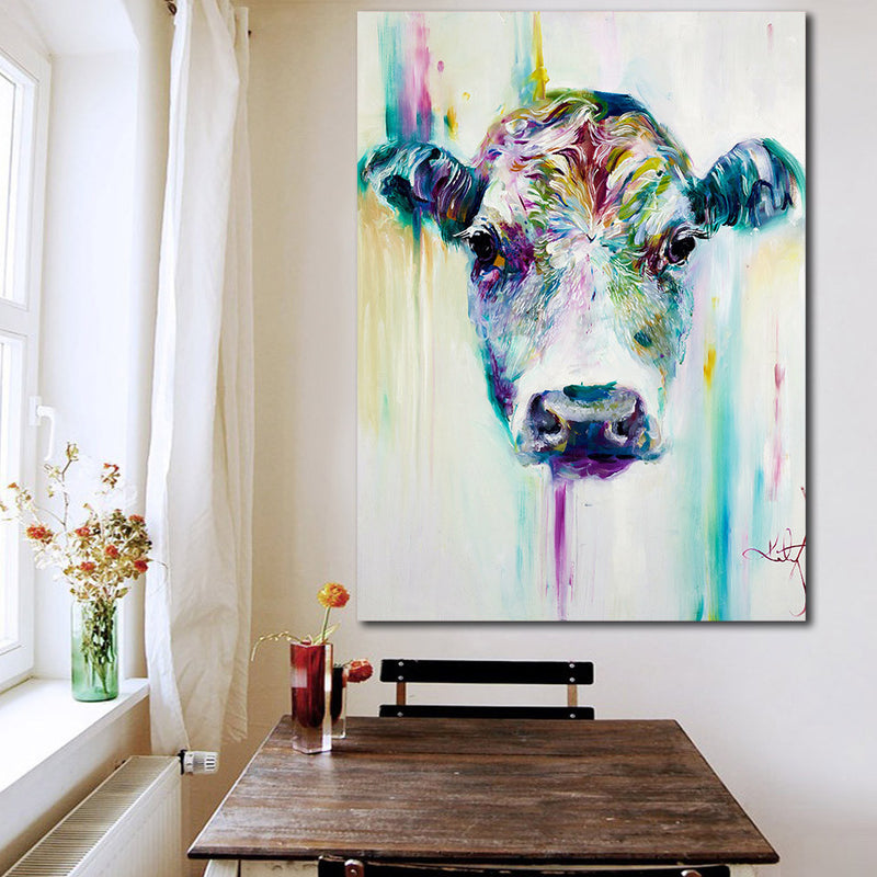 Cow Canvas Wall Art - Vegan Wall Art - Animal and Nature