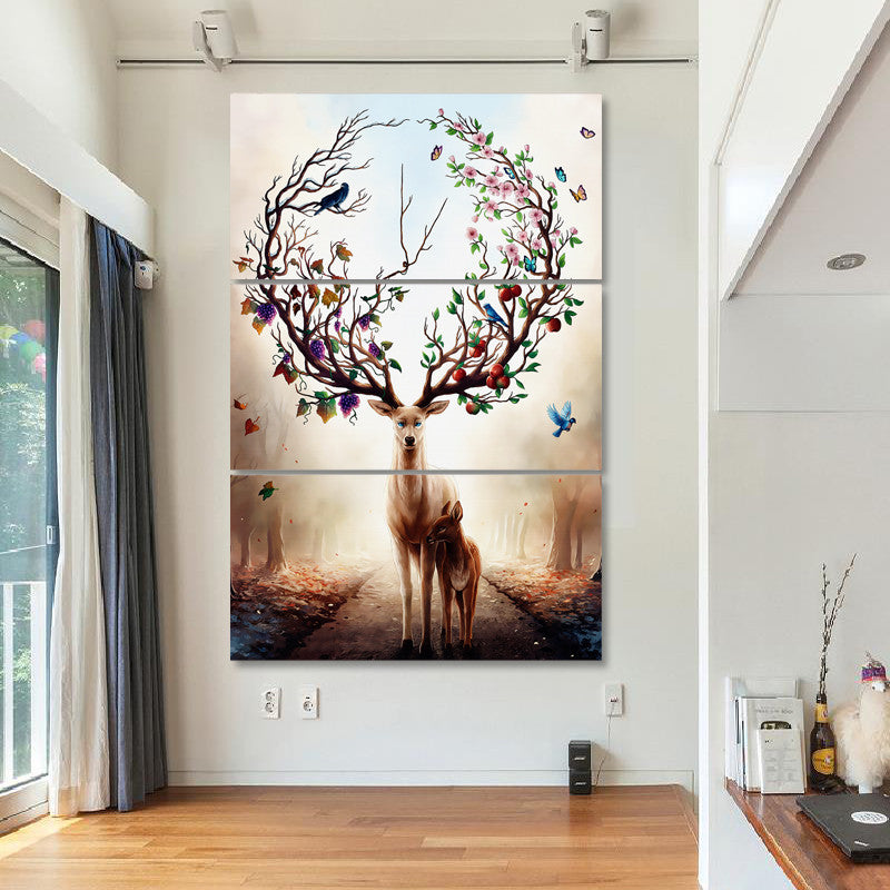 framed canvas wall art - elk - vegan wall art - gift idea