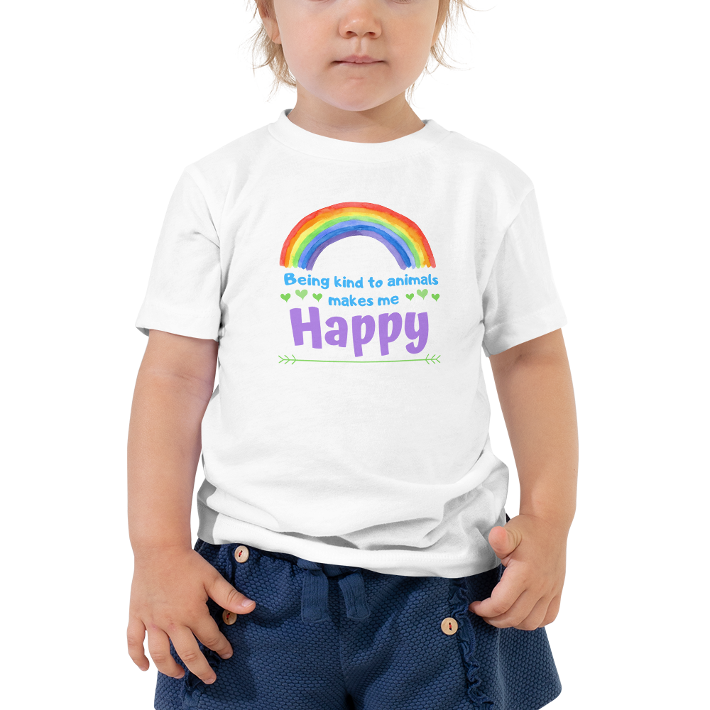 Vegan Toddler T-shirt - Rainbow - Baby Shower Gift Idea