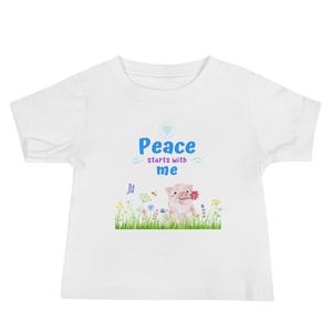 Vegan Pig Peace T-shirt - Vegan Baby Shower Gift Idea