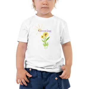 Vegan Toddler T-shirt - Growing Flower - Baby Gift Idea